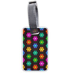 Pattern Background Colorful Design Luggage Tags (One Side)