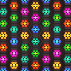 Pattern Background Colorful Design Magic Photo Cubes