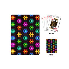 Pattern Background Colorful Design Playing Cards (Mini)