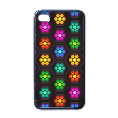 Pattern Background Colorful Design Apple iPhone 4 Case (Black)
