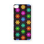 Pattern Background Colorful Design Apple iPhone 4 Case (White)