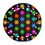Pattern Background Colorful Design Round Filigree Ornament (2Side)
