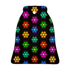 Pattern Background Colorful Design Bell Ornament (2 Sides)