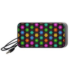 Pattern Background Colorful Design Portable Speaker (Black)