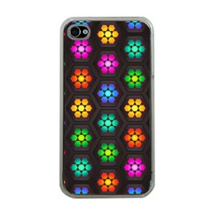 Pattern Background Colorful Design Apple iPhone 4 Case (Clear)