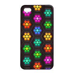 Pattern Background Colorful Design Apple iPhone 4/4s Seamless Case (Black)