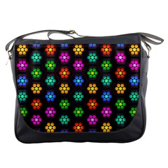 Pattern Background Colorful Design Messenger Bags