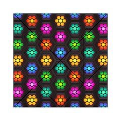 Pattern Background Colorful Design Acrylic Tangram Puzzle (6  x 6 )