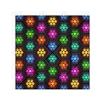 Pattern Background Colorful Design Acrylic Tangram Puzzle (4  x 4 )