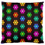 Pattern Background Colorful Design Large Cushion Case (Two Sides)
