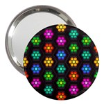 Pattern Background Colorful Design 3  Handbag Mirrors