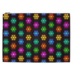 Pattern Background Colorful Design Cosmetic Bag (XXL)