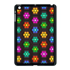Pattern Background Colorful Design Apple iPad Mini Case (Black)