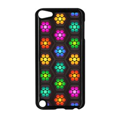 Pattern Background Colorful Design Apple iPod Touch 5 Case (Black)