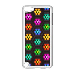 Pattern Background Colorful Design Apple iPod Touch 5 Case (White)