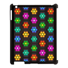 Pattern Background Colorful Design Apple iPad 3/4 Case (Black)