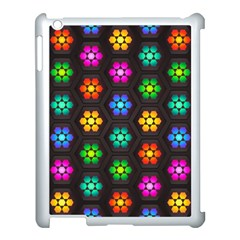 Pattern Background Colorful Design Apple iPad 3/4 Case (White)