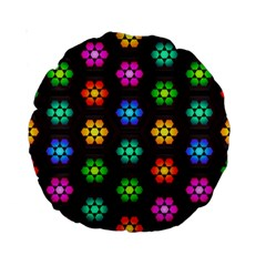 Pattern Background Colorful Design Standard 15  Premium Round Cushions