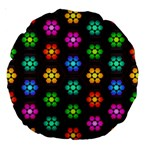 Pattern Background Colorful Design Large 18  Premium Round Cushions