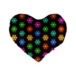 Pattern Background Colorful Design Standard 16  Premium Heart Shape Cushions