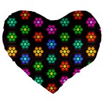 Pattern Background Colorful Design Large 19  Premium Heart Shape Cushions