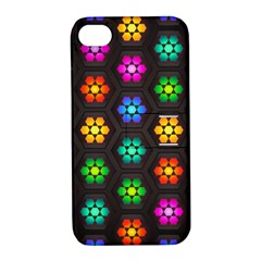 Pattern Background Colorful Design Apple iPhone 4/4S Hardshell Case with Stand
