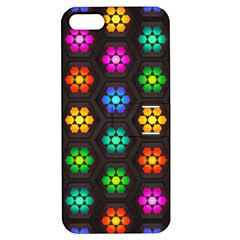 Pattern Background Colorful Design Apple iPhone 5 Hardshell Case with Stand