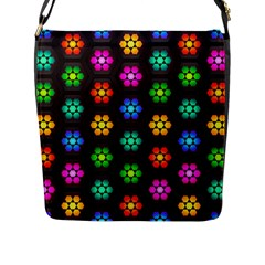 Pattern Background Colorful Design Flap Messenger Bag (L)