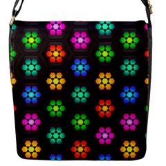 Pattern Background Colorful Design Flap Messenger Bag (S)