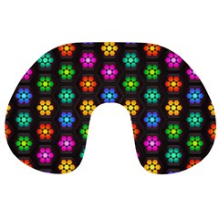 Pattern Background Colorful Design Travel Neck Pillows