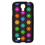 Pattern Background Colorful Design Samsung Galaxy S4 I9500/ I9505 Case (Black)