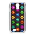 Pattern Background Colorful Design Samsung GALAXY S4 I9500/ I9505 Case (White)