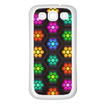 Pattern Background Colorful Design Samsung Galaxy S3 Back Case (White)