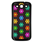Pattern Background Colorful Design Samsung Galaxy S3 Back Case (Black)