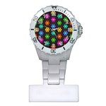 Pattern Background Colorful Design Plastic Nurses Watch