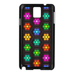 Pattern Background Colorful Design Samsung Galaxy Note 3 N9005 Case (Black)