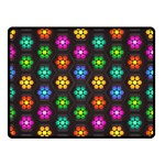 Pattern Background Colorful Design Double Sided Fleece Blanket (Small)