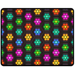 Pattern Background Colorful Design Double Sided Fleece Blanket (Medium)
