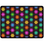 Pattern Background Colorful Design Double Sided Fleece Blanket (Large)