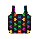 Pattern Background Colorful Design Full Print Recycle Bags (S)