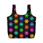 Pattern Background Colorful Design Full Print Recycle Bags (M)