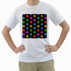 Pattern Background Colorful Design Men s T-Shirt (White)