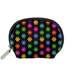 Pattern Background Colorful Design Accessory Pouches (Small)