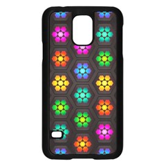 Pattern Background Colorful Design Samsung Galaxy S5 Case (Black)