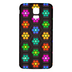 Pattern Background Colorful Design Samsung Galaxy S5 Back Case (White)