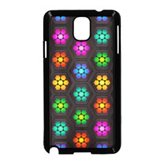 Pattern Background Colorful Design Samsung Galaxy Note 3 Neo Hardshell Case (Black)