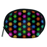 Pattern Background Colorful Design Accessory Pouches (Medium)