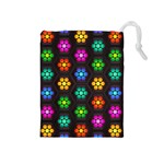 Pattern Background Colorful Design Drawstring Pouches (Medium)