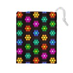 Pattern Background Colorful Design Drawstring Pouches (Large)