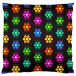 Pattern Background Colorful Design Large Flano Cushion Case (One Side)